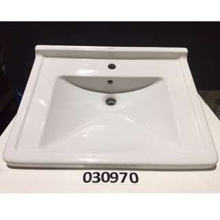 30970 Duravit wall mount washbasin w/o overflow