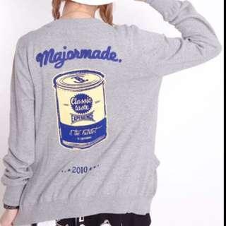 🎄Major Made MJR 罐頭針織灰色外套💜