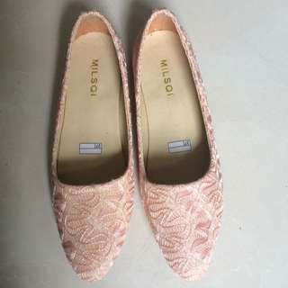 [Reprice] Peach Flat Shoes