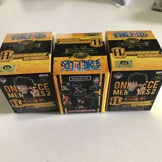One Piece Desktop Figurines Unopened