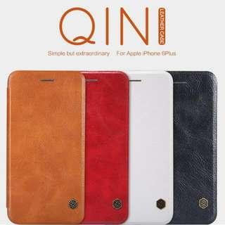 Iphone 6 Plus Flip Leather Case NILLKIN QIN Series - Brown
