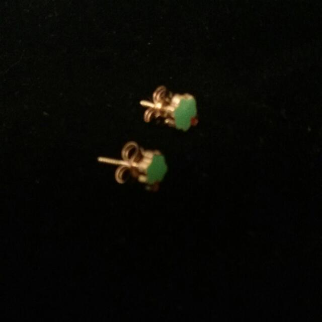 14k Solid Yellow Gold Earring For Kids