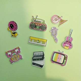 Assorted Cute Brooches Hairclip Bookmarks Magnet