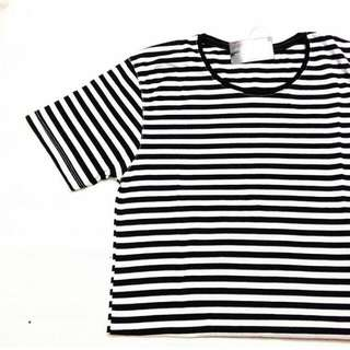 Unisex B&W Stripe Shirt