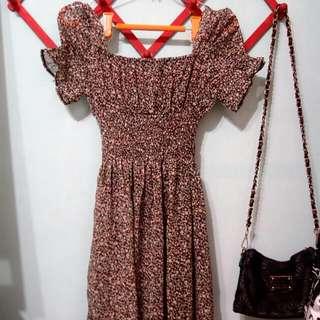 碎花連身洋裝 韓系 日系