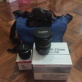 Canon DSLR + lenses + free bag!