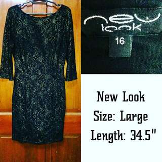 NEW LOOK  bodycon lace dress