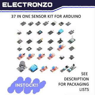 37 In One Sensor Kit For Arduino High Quality 100% Arduino-Friendly (Free 9V Arduino Power Adapter Worth $1.50)