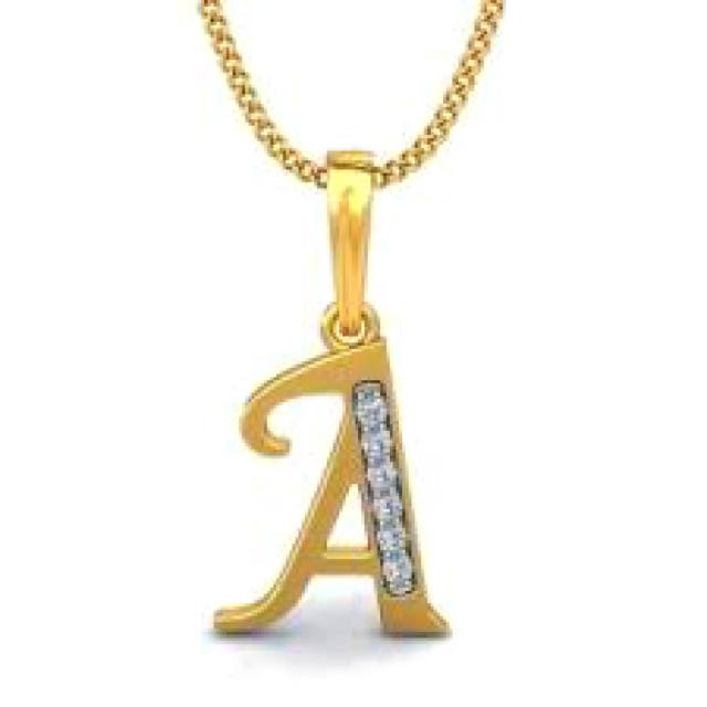 18k Gold Necklace W/ Letter