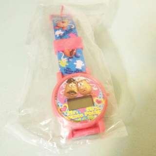 玩具總動員 蛋頭先生 太太 絕版 扭蛋 手錶
