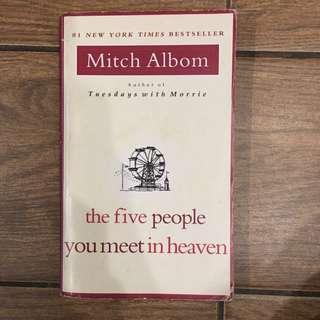 英文小說 在天堂遇見的五個人The Five People You Meet In Heaven