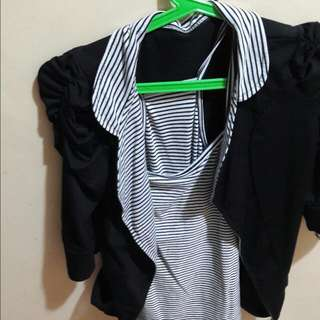 Cardigan and sando combo for sale