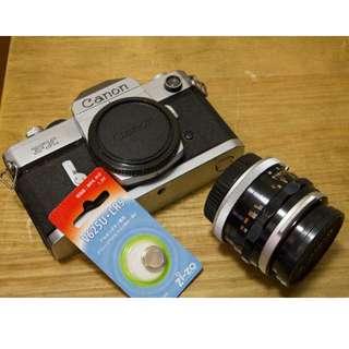 Canon FX + FL 50MM f/1.8 (Chrome body) [FINAL Price]