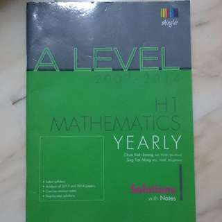 A Level H1 Maths 2007 - 2014