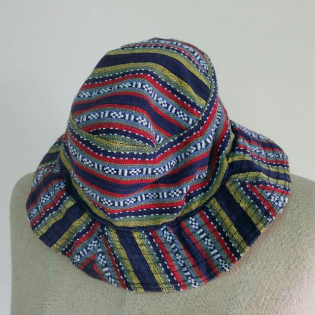 民俗織紋軟料漁夫帽