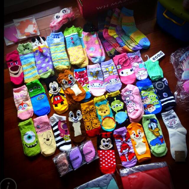 日單迪士尼襪子福袋(3雙.5雙)💗短襪船型襪珊瑚絨