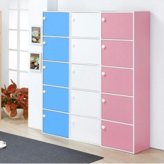 五門收納櫃/置物櫃(四色可選)