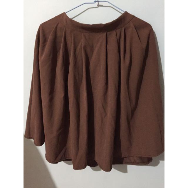 裙子 長裙 褐色裙