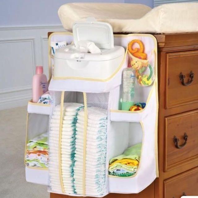 美國 Dexbaby 尿布收納袋 嬰兒床床掛
