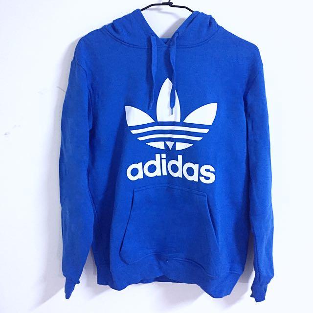 Adidas 藍色長袖棉T