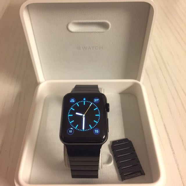05cd17517caf Apple Watch 42mm Space Black Stainless Steel Case With Space Black ...