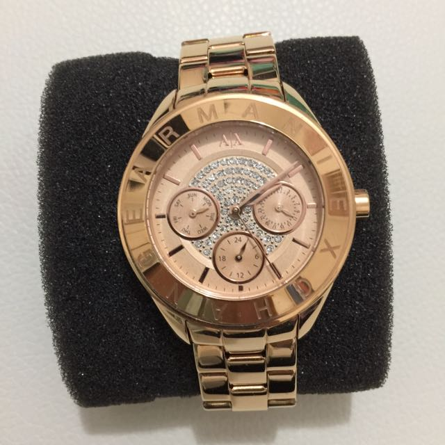 Armani Exchange Rose Gold Watch