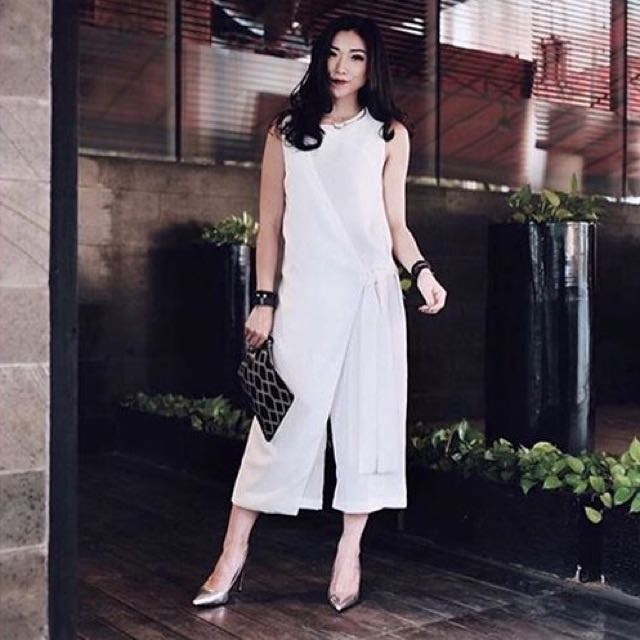 ATS The Label Jumpsuit White