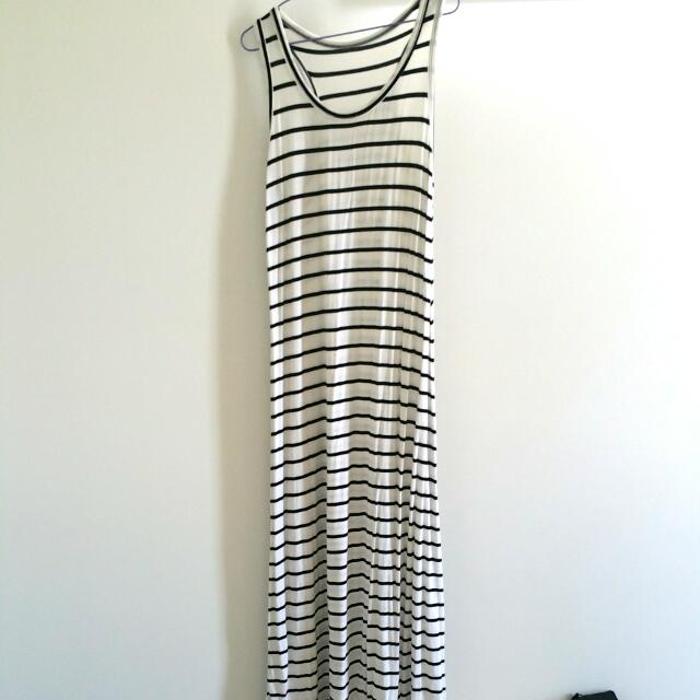 Black And White Maxi Dress Aus Size M/L