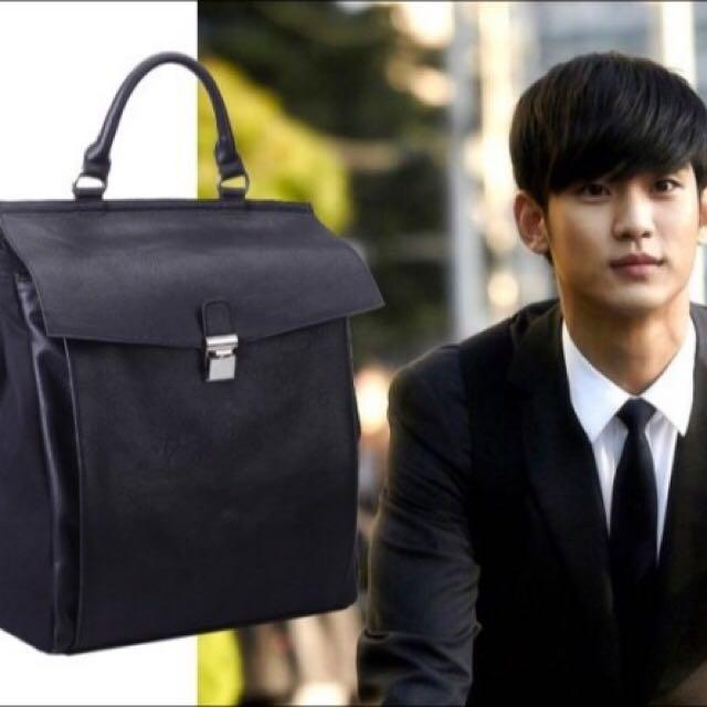 Black Korean Men Backpack (from Korean Drama My Love From
