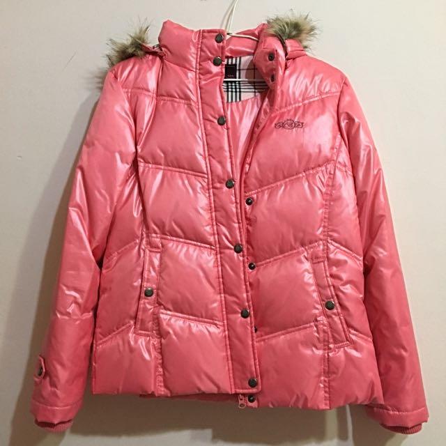 Brappers亮粉色羽絨外套