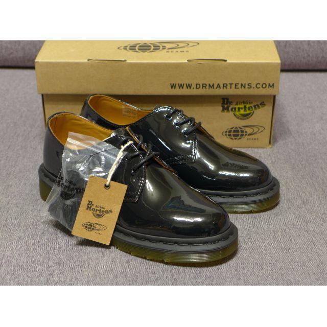 【現貨】Dr. Martens × Ray BEAMS 1461B 馬汀 聯名款 別注漆皮 緞帶/綁帶皮鞋 AW16