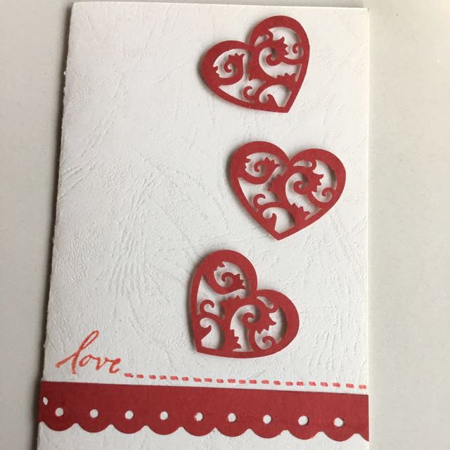 Handmade Love Card Valentine Design Craft Goods