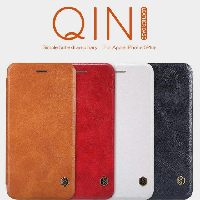 Iphone 6 Plus Flip Leather Case NILLKIN QIN Series - Brown