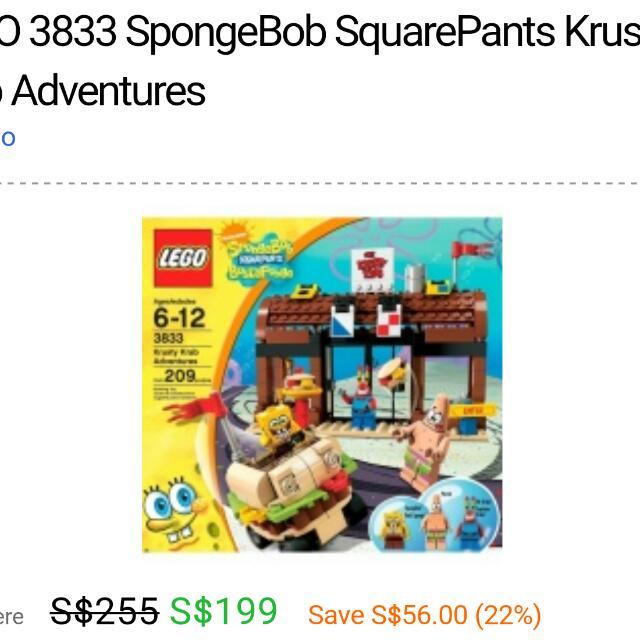Lego Spongebob Squarepants Krusty Krab Adventures Toys Games
