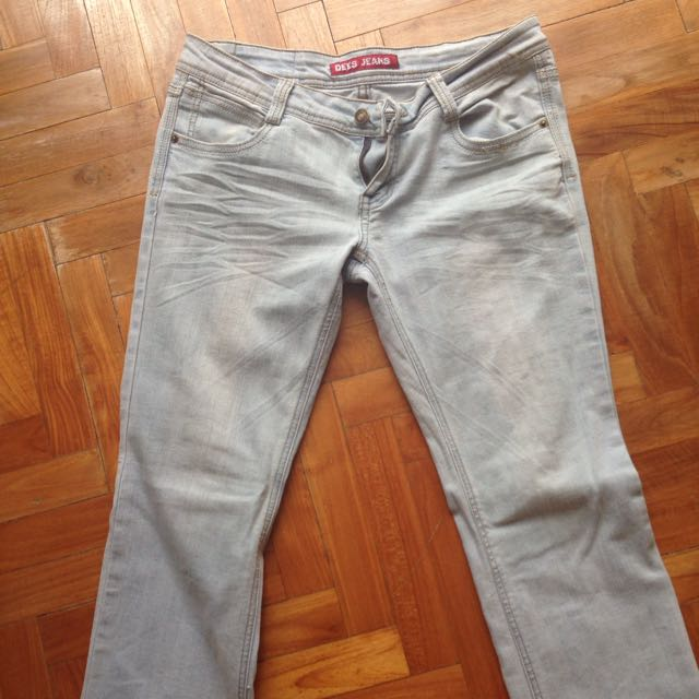 Light Blue Denim Cotton Jeans