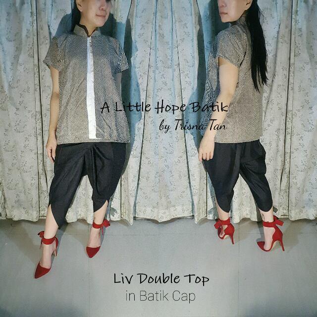 Liv Double Layer Top Batik Cap Alus