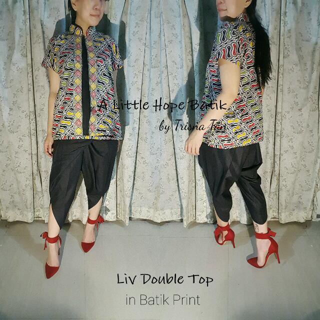 Liv Double Top Batik Print x Cotton