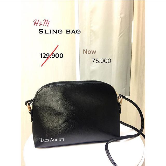 Metalic Sling bag h&m