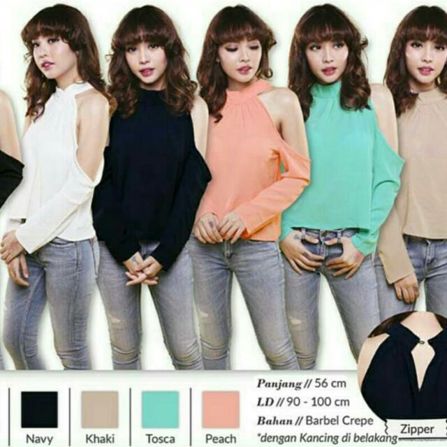 Open Shoulder Top (White Only)