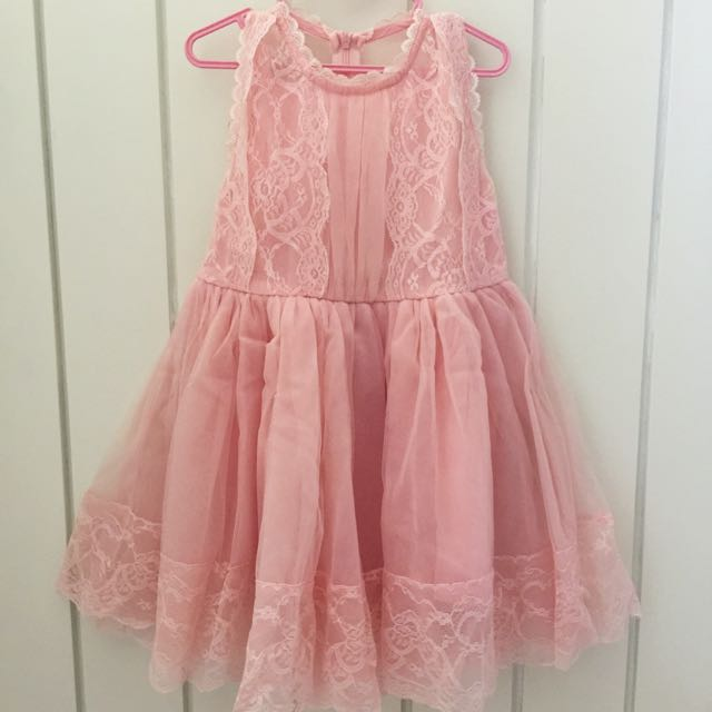 Peach Korean Dress