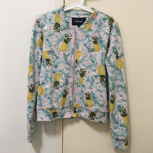 Pineapple Bomber Jacket