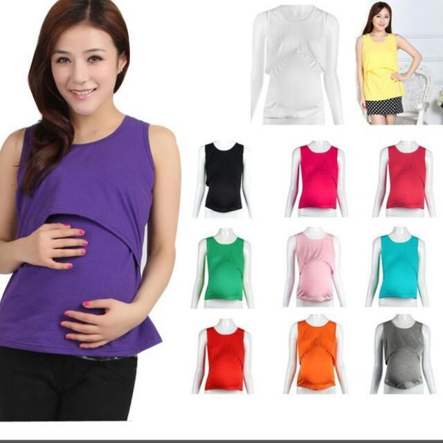 28fde858515e0 Preorder Womens Pregnant Maternity Clothes Nursing Tops ...
