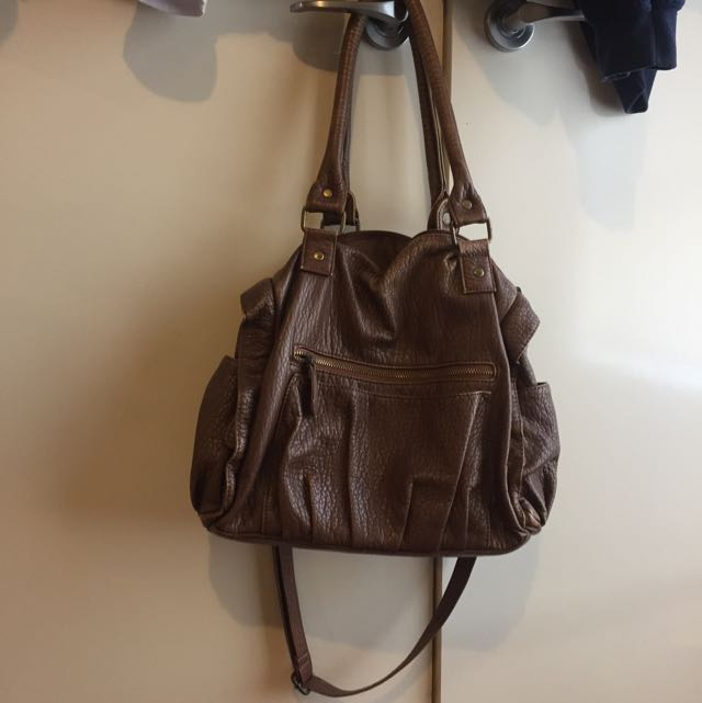 RUBI Brown Bag With Strap