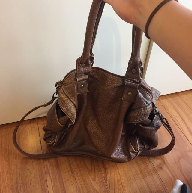 RUBI Brown Bag With Strap