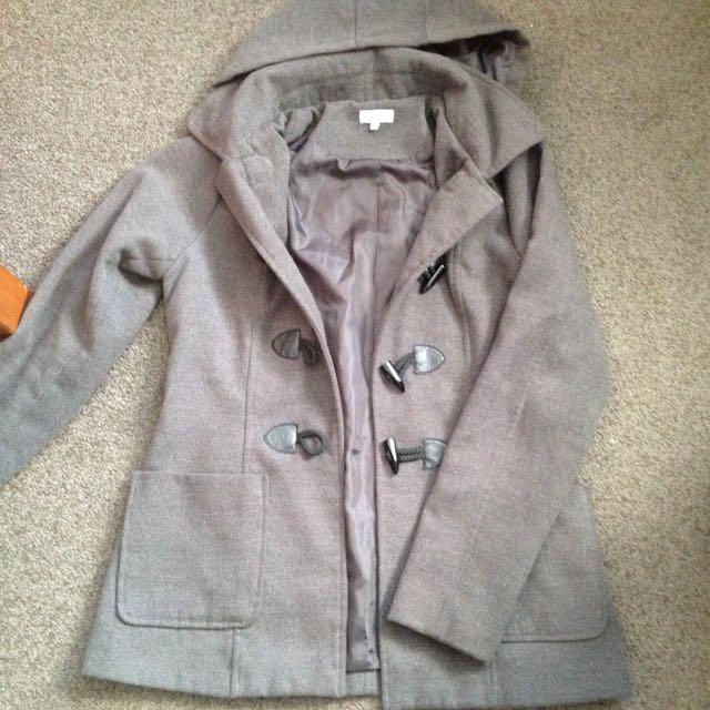 Shanton Grey Hooded Coat