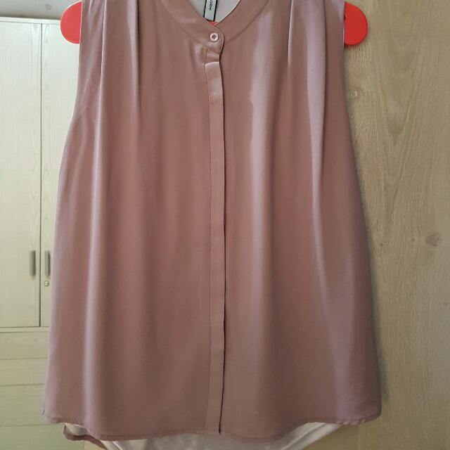 Sleeveless Brown Top