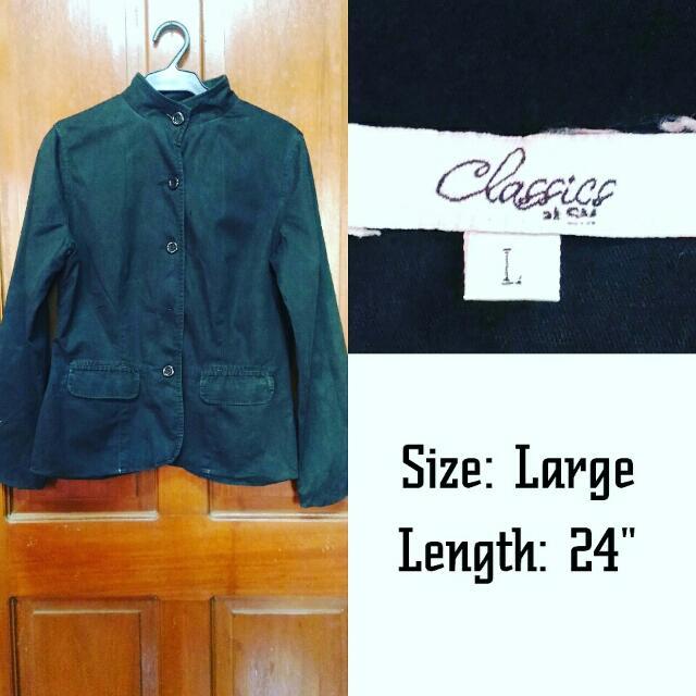 SM Classics black blazer / jacket / coat