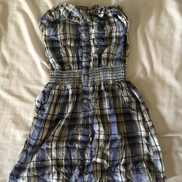 Primark Strapless Gingham Dress 72227d7e7