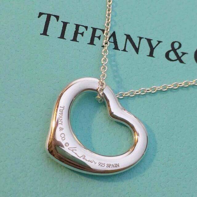 TIFFANY&CO. 經典 Open Heart 心形項鍊. S號