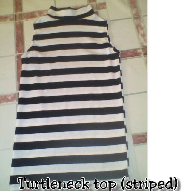 Tneck Striped Top